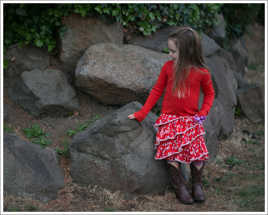 Blog Tea Collection Red tier Dress Faded Glory Cowboy Boots-3