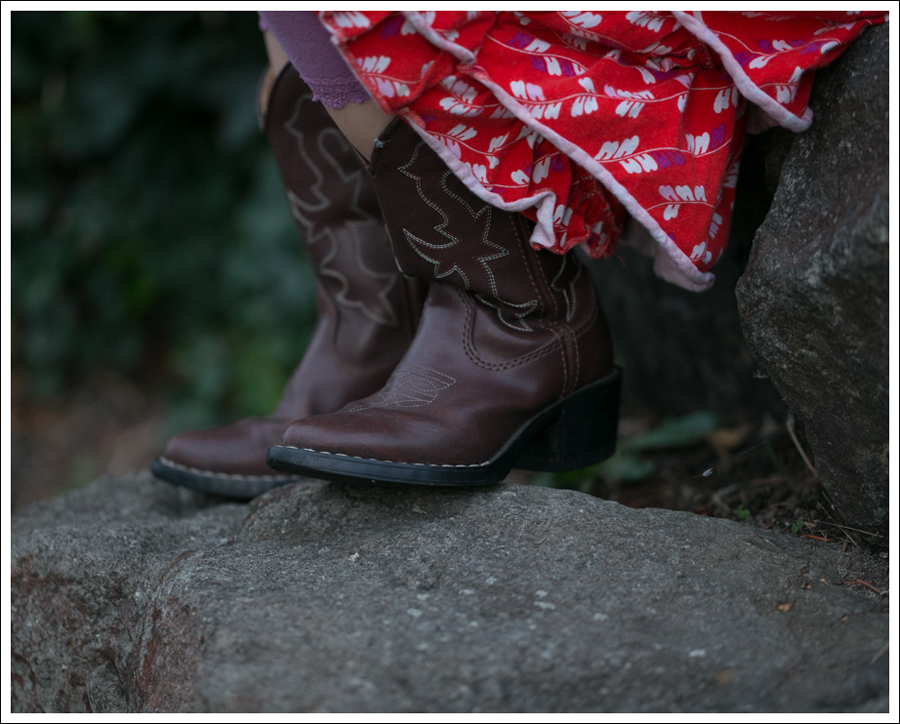 Blog Tea Collection Red tier Dress Faded Glory Cowboy Boots-4