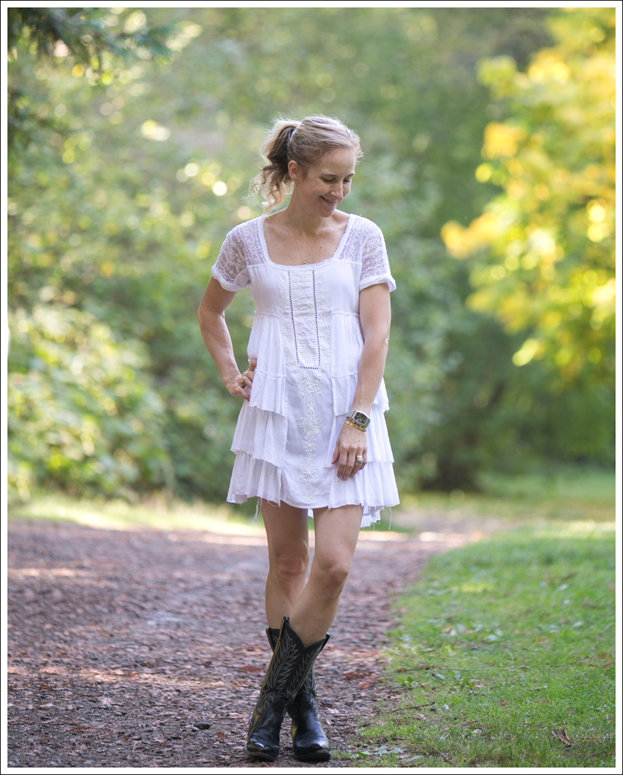Blog Free People Sunbeam Mini Dress Nocona Cowboy Boots-1