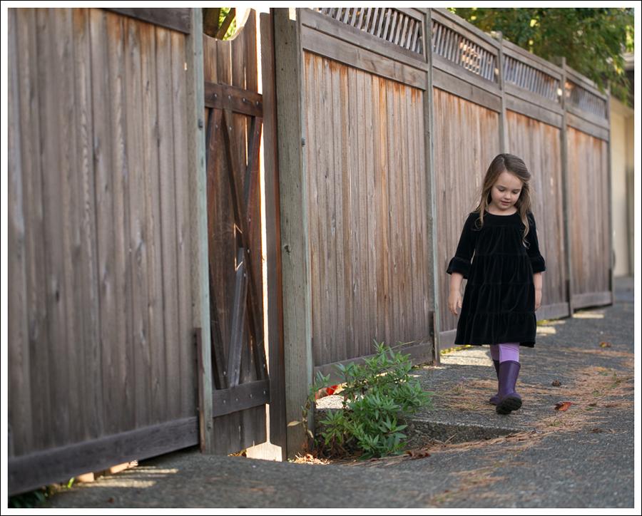 Blog Hanna Andersson Black Velour Twirl Dress Purple Leggings Kamik Rain Boots-3