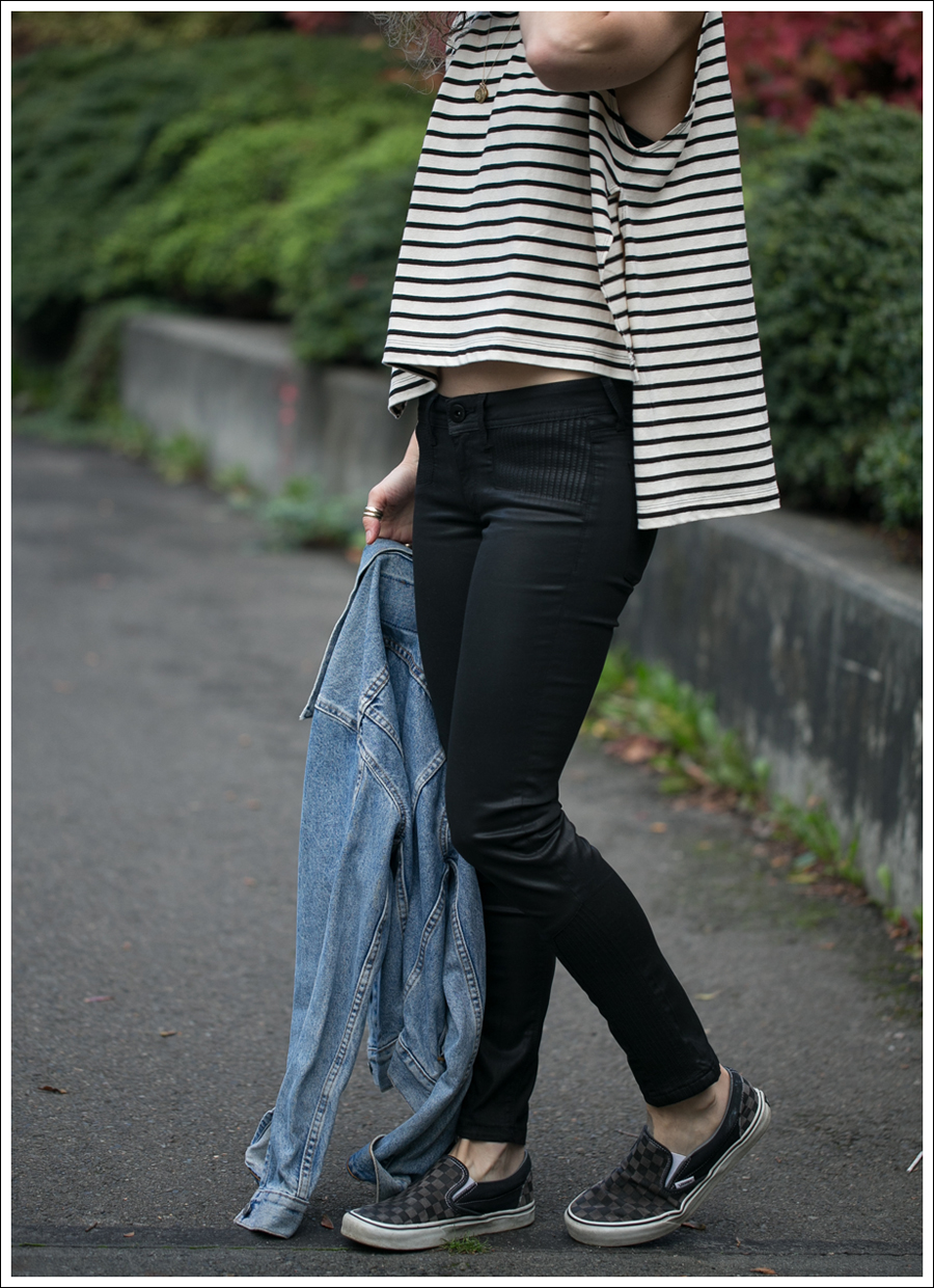 Blog Levis Jacket Free People Madness Stripe Muscle Tank DL1961 River Atlanta Checkered Vans-4