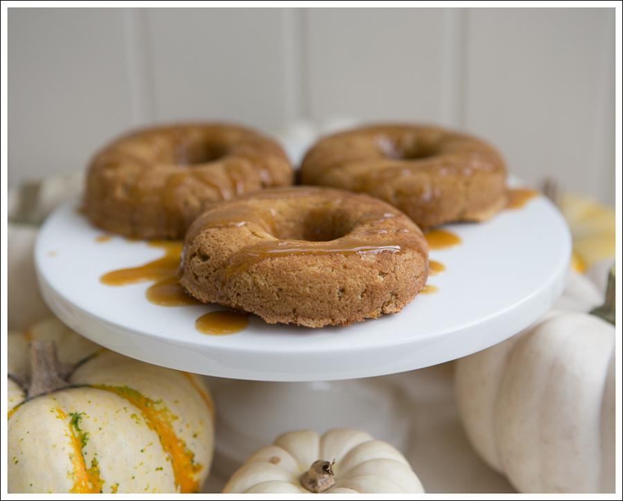 Blog Paleo Pumpkin Donuts with Maple Pumkin Glaze Caramel Sauce-2
