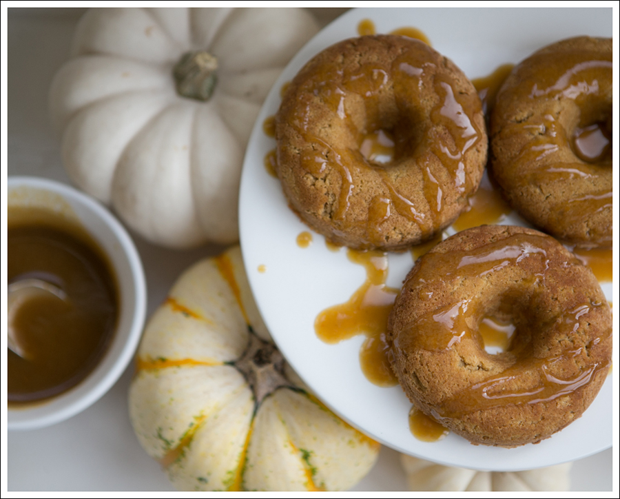 Blog Paleo Pumpkin Doughnuts with Maple Pumpkin Glaze Caramel Sauce-1