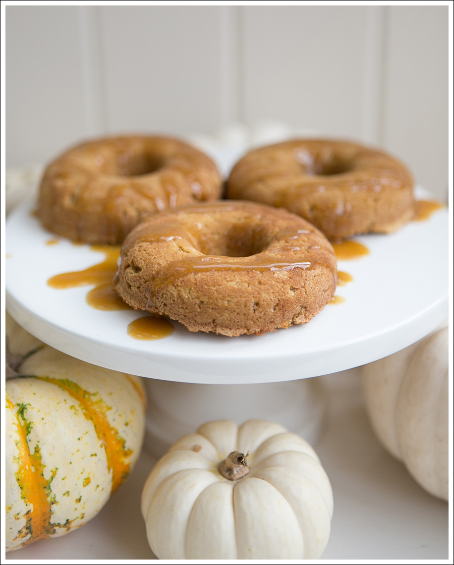 Blog Paleo Pumpkin Doughnuts with Maple Pumpkin Glaze Caramel Sauce-4