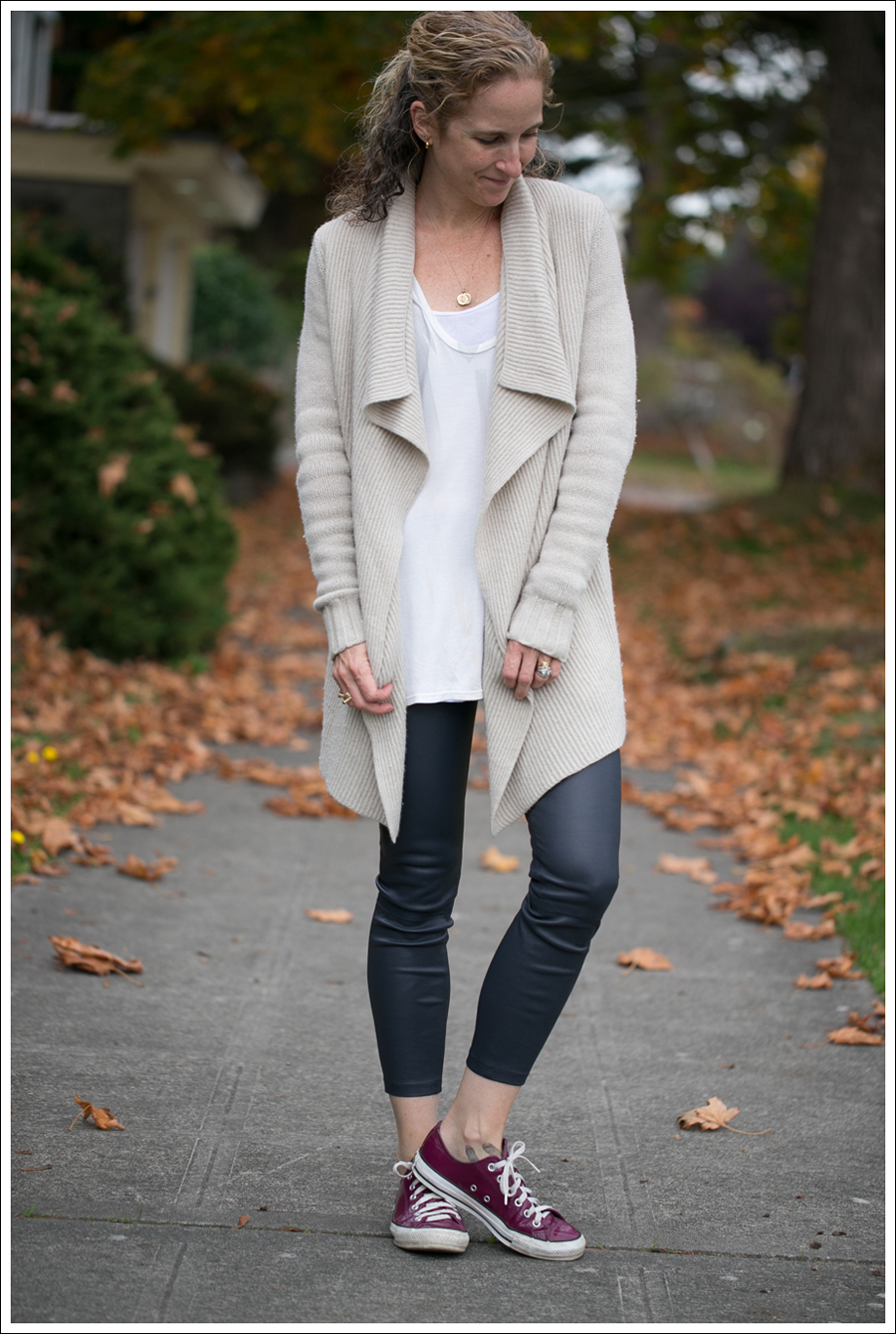 Blog Vince Wool Drape Sweater Leather Leggings Converse-5