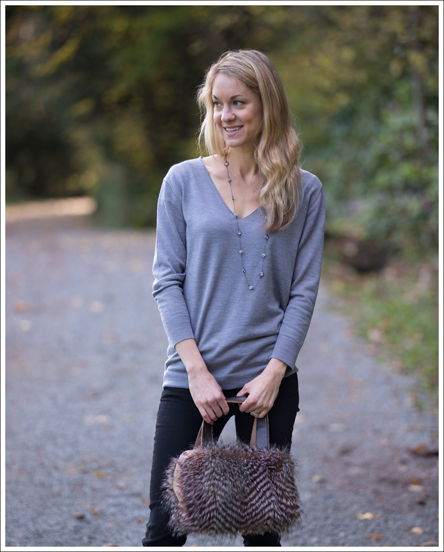 Blog DIY Faux Fur Leather Purse-2