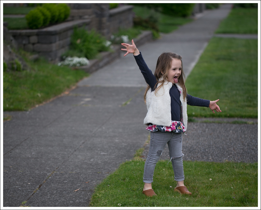 Blog GapKids Faux Fur Reversible Vest Tea Collection Gray Floral Tunic Skinny Mini Destroyed Gray Jeans Sven Clogs-4