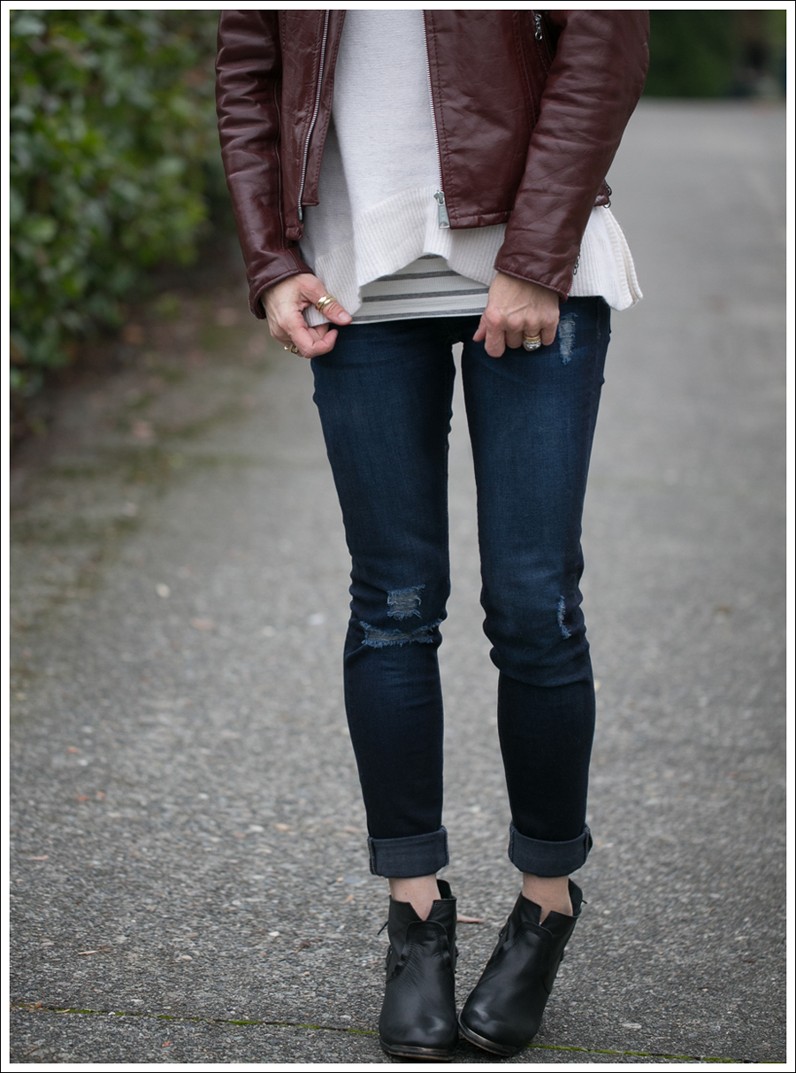 Blog Vintage Leather Jacket 360 Cashmere Turtleneck Sweater DL1961 Amanda Sevelle 67 Booties-3