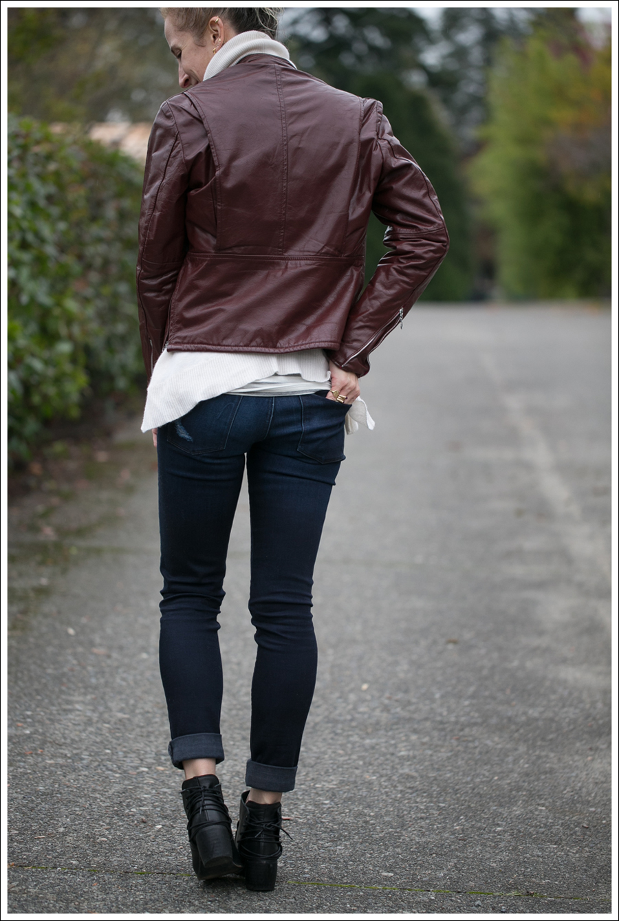 Blog Vintage Leather Jacket 360 Cashmere Turtleneck Sweater DL1961 Amanda Sevelle 67 Booties-4