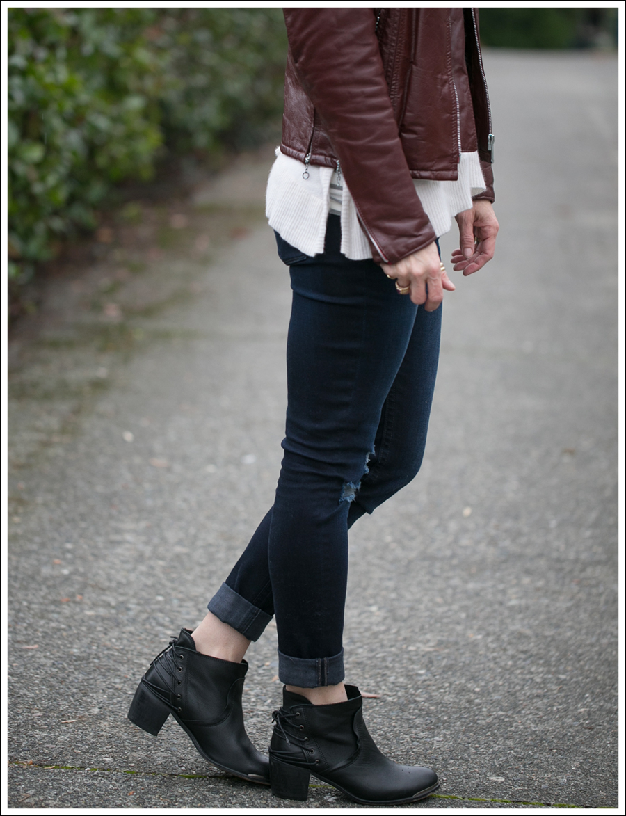 Blog Vintage Leather Jacket 360 Cashmere Turtleneck Sweater DL1961 Amanda Sevelle 67 Booties-5