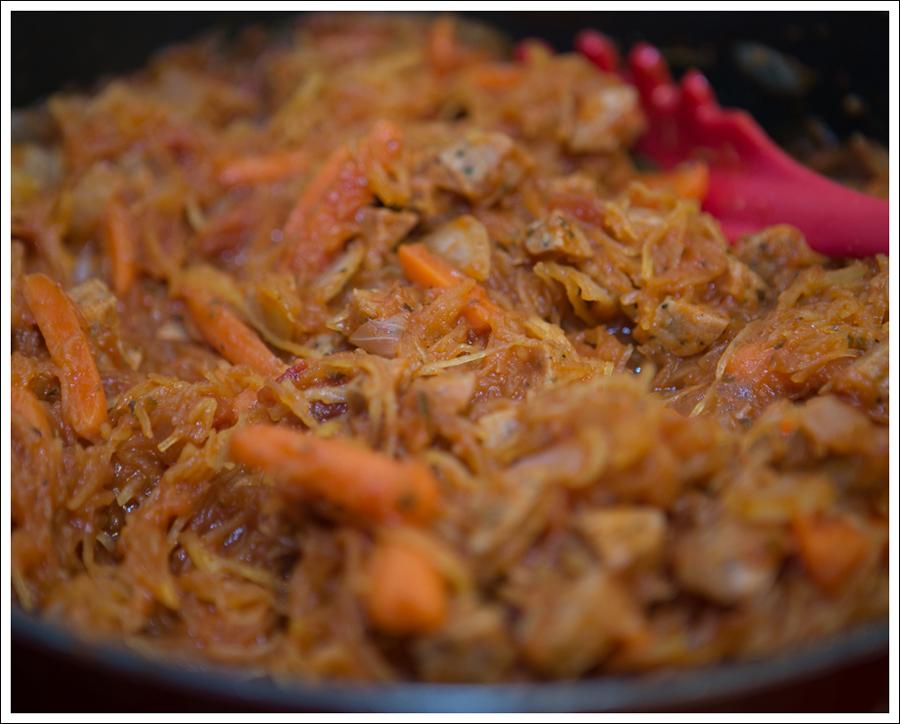 Blog Whole 30 Paleo Spaghetti Squash with Carrots and Avocado-3