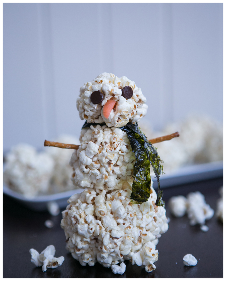 Blog DIY Paleo Healthy Popcorn Ball Snowman-1