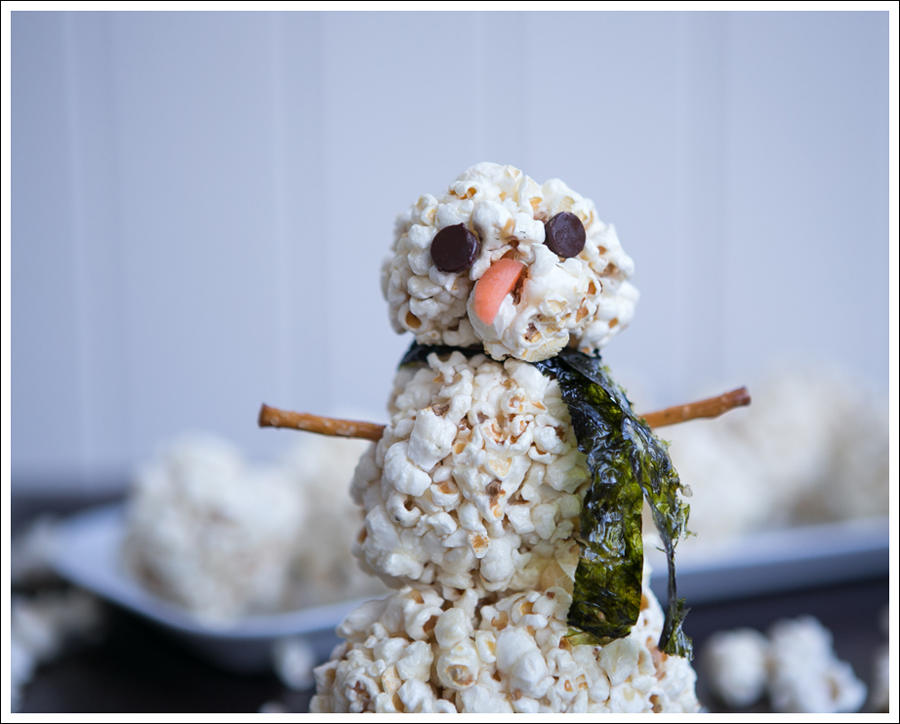 Blog DIY Paleo Healthy Popcorn Ball Snowman-2