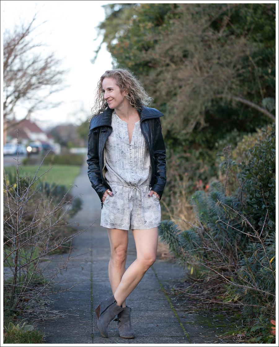 Blog Doma Leather Jacket Joie Silk Amara Romper Lola Kiem Booties-1