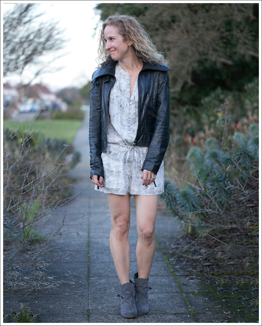 Blog Doma Leather Jacket Joie Silk Amara Romper Lola Kiem Booties-2