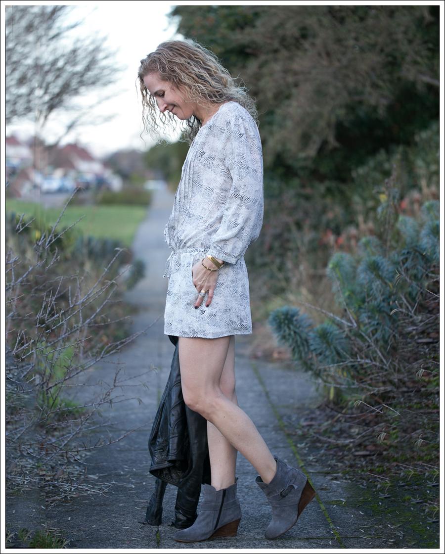 Blog Doma Leather Jacket Joie Silk Amara Romper Lola Kiem Booties-5