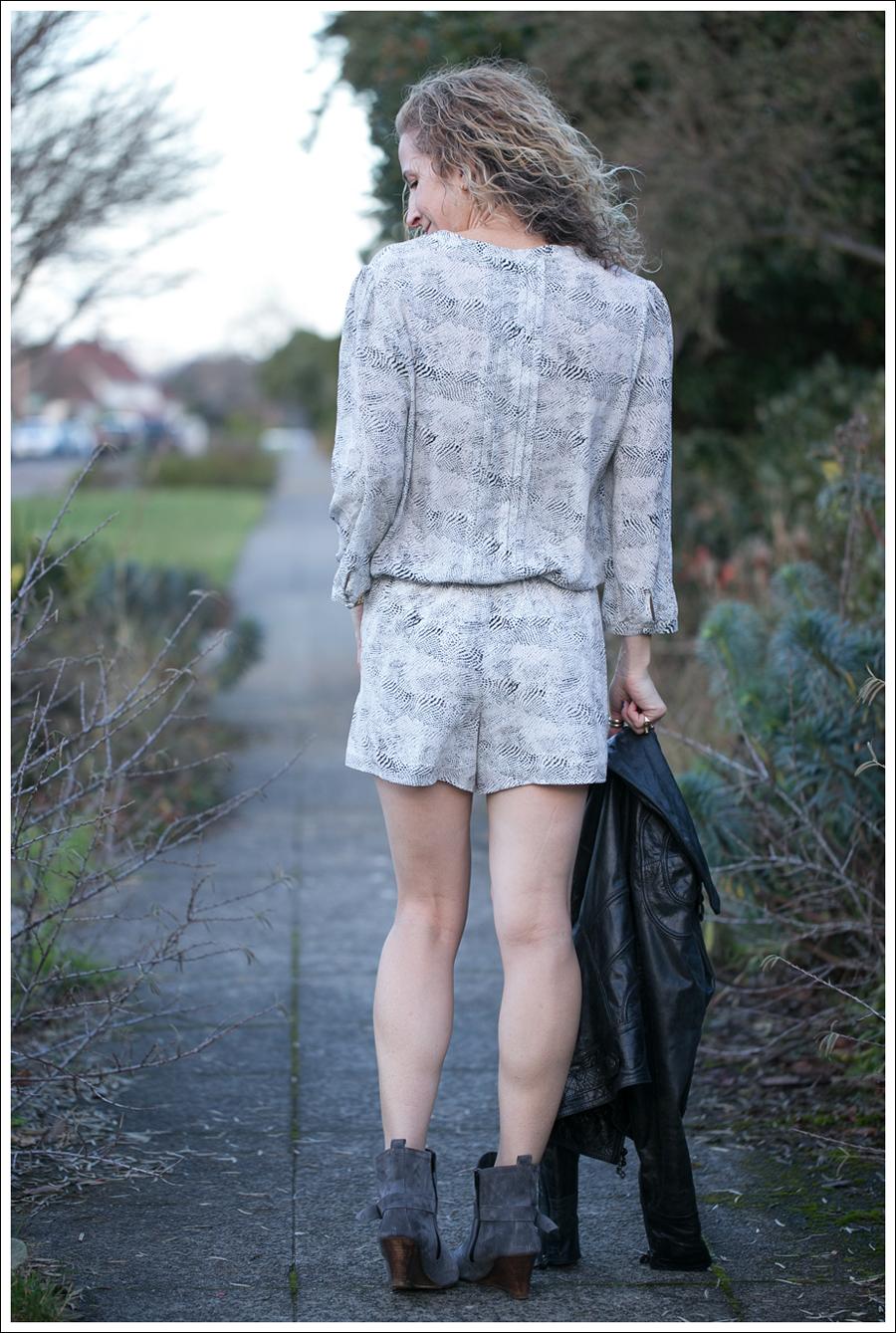 Blog Doma Leather Jacket Joie Silk Amara Romper Lola Kiem Booties-6