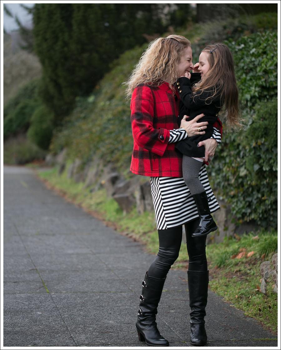 Blog Elliot Lauren Buffalo Plaid Silence Noise Striped Dress Frye Fiona 3 Strap Boots-5