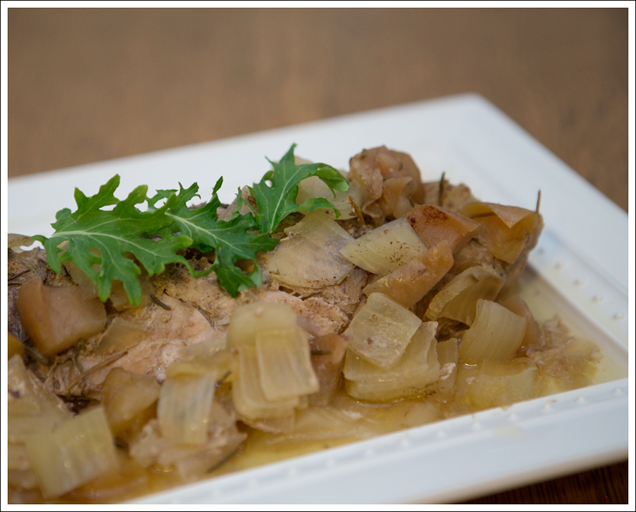 Blog Paleo Whole30 Crock Pot Rosemary Pork Loin Apples Onions-1