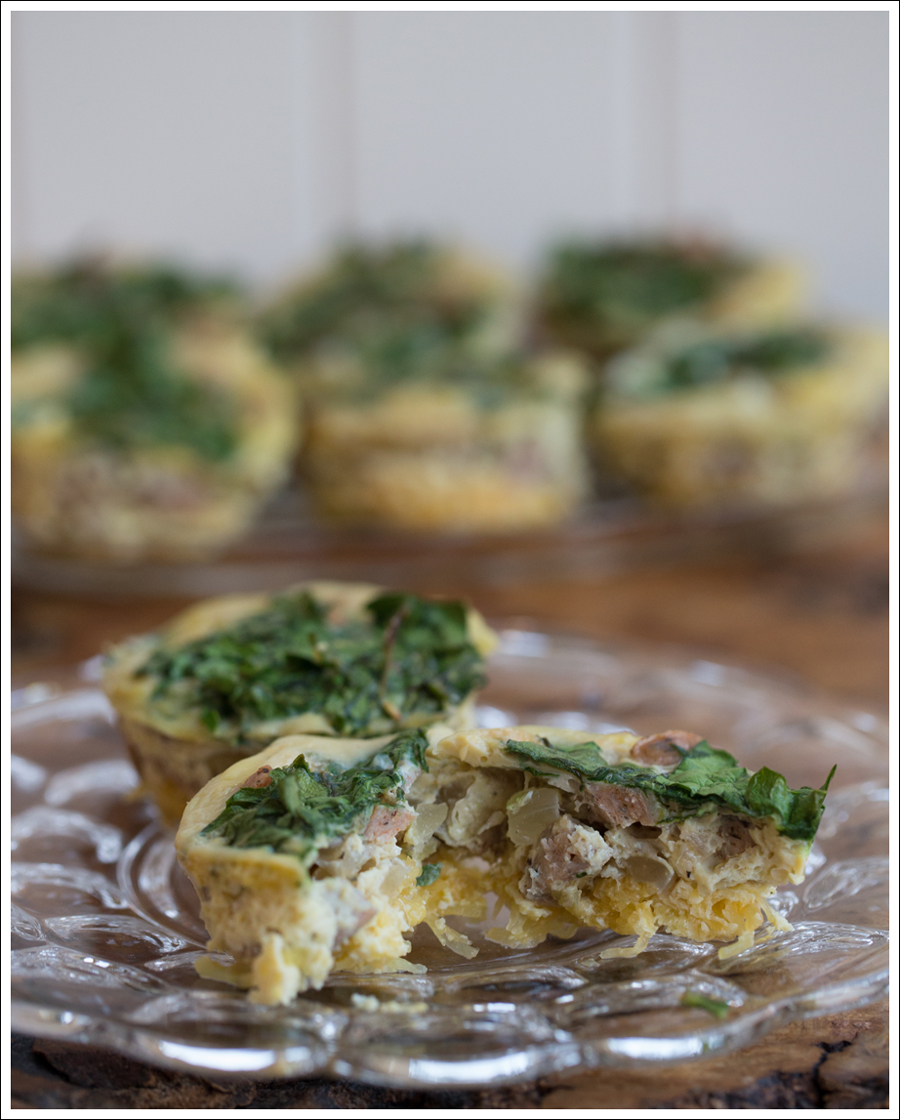 Blog Paleo Whole30 Egg Chicken Sausage Spaghetti Squash Egg Muffins-1