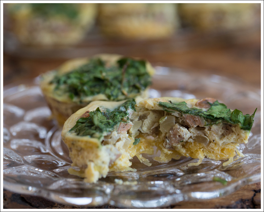 Blog Paleo Whole30 Egg Chicken Sausage Spaghetti Squash Egg Muffins-2