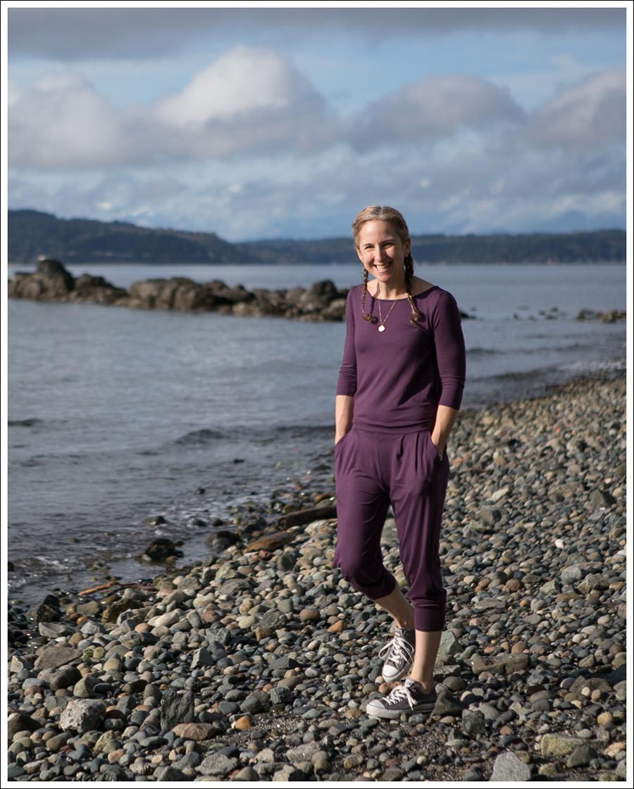 Blog Three Dots Boat Neck Jumpsuit Gray Converse-3