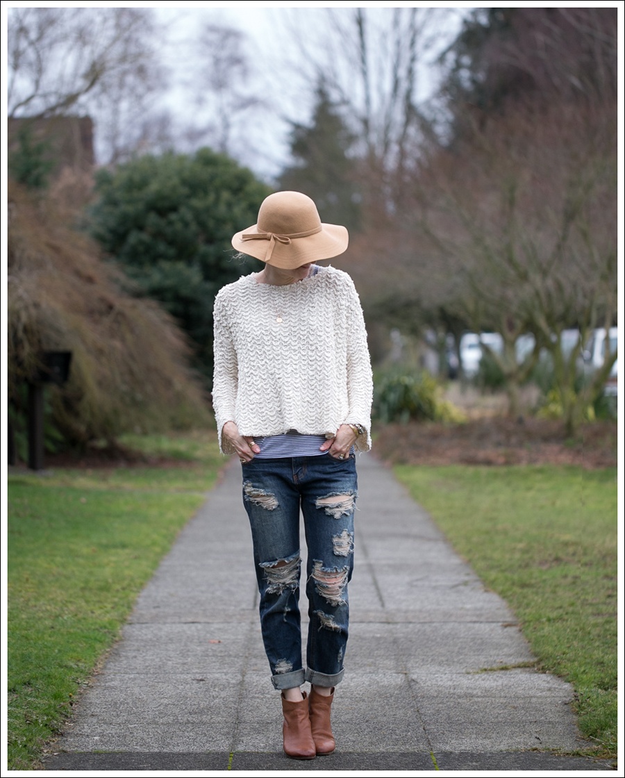Blog Vintage Felt Hat Free People Sweater One Teaspoon Tiger Awesome Baggies Sam Edelman Booties-2