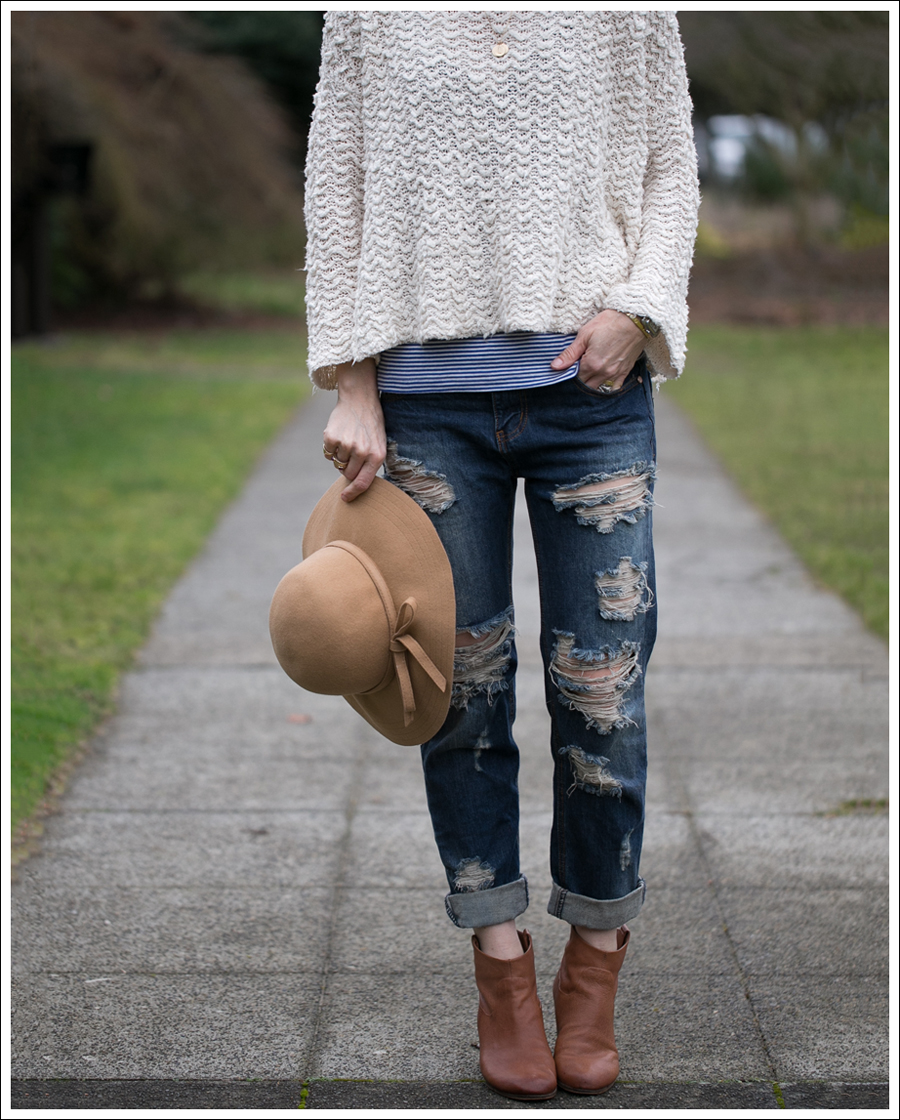 Blog Vintage Felt Hat Free People Sweater One Teaspoon Tiger Awesome Baggies Sam Edelman Booties-4