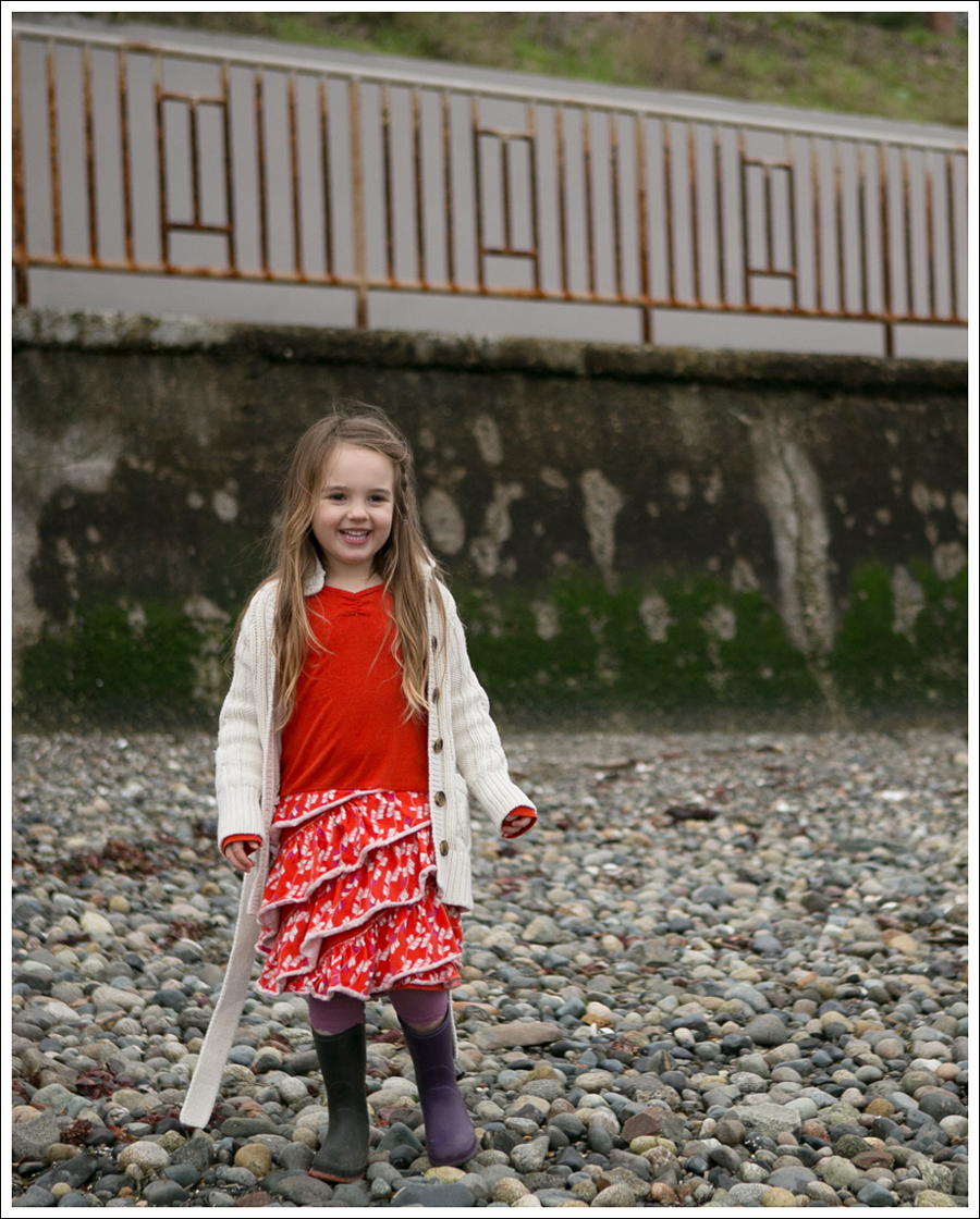 Blog GapKids Cardigan Tea Collection Tango Dress Kamik Rain Boots-5