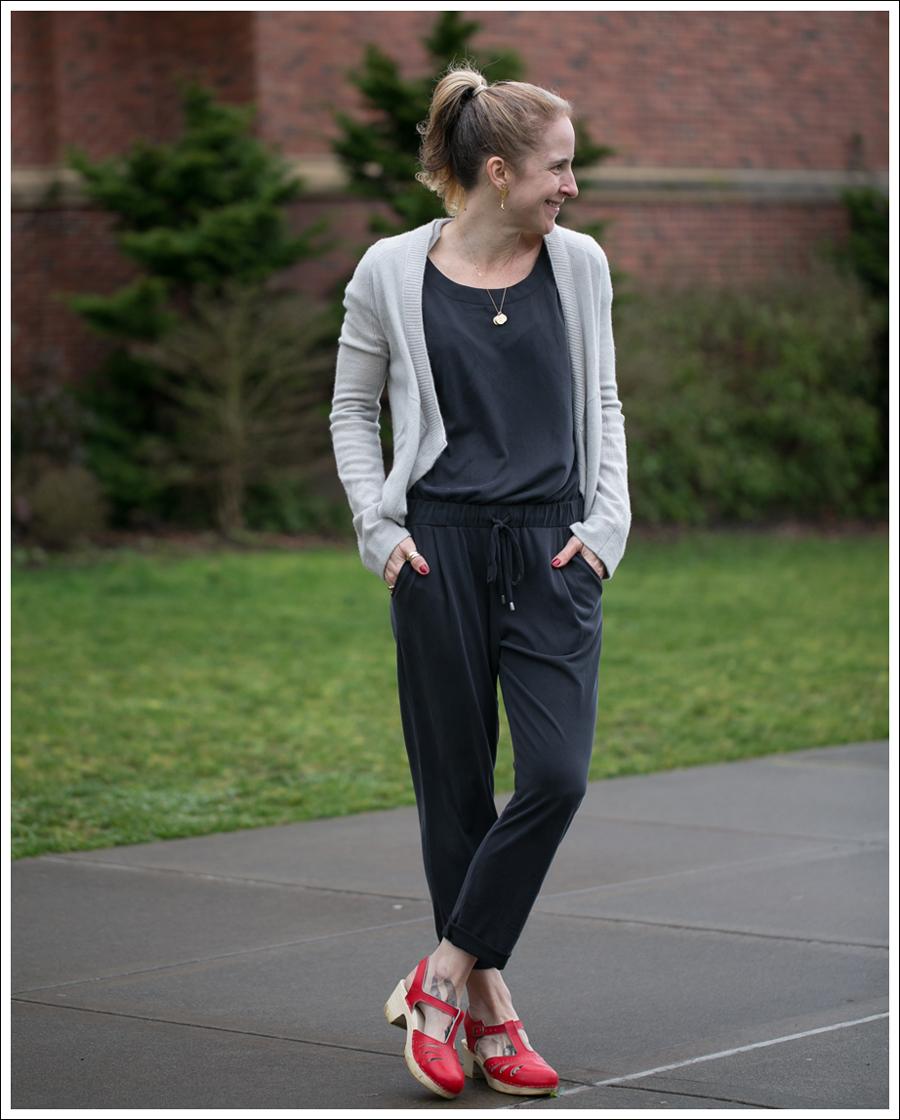 Blog Inhabit Cashmere Cardigan Splendid Sandwash Jersey Jumpsuit Sven Mary Jane Clogs-1