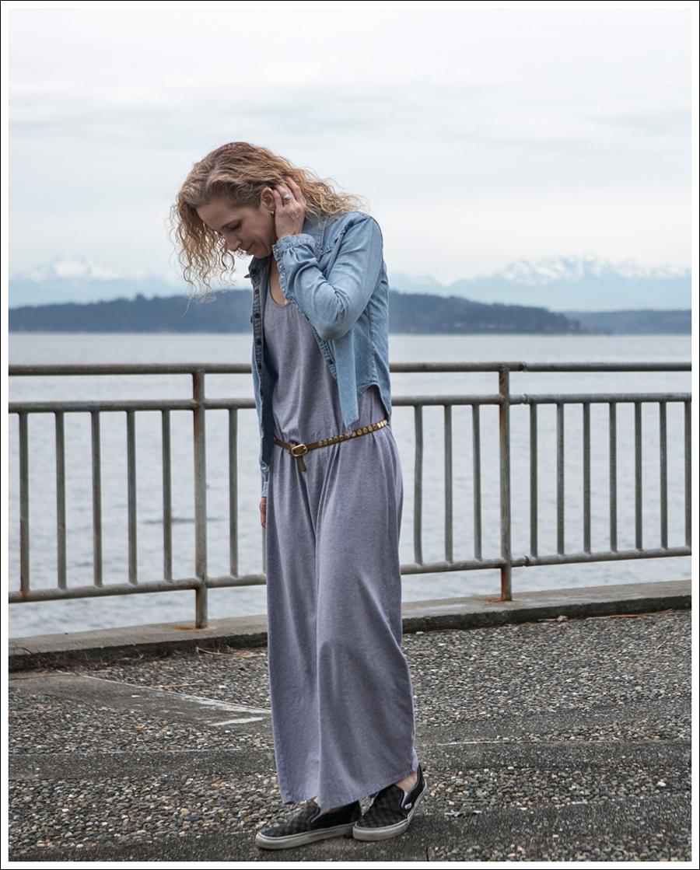 Blog Levis Denim Shirt Splendid Gray Dress Checkered Converse-1
