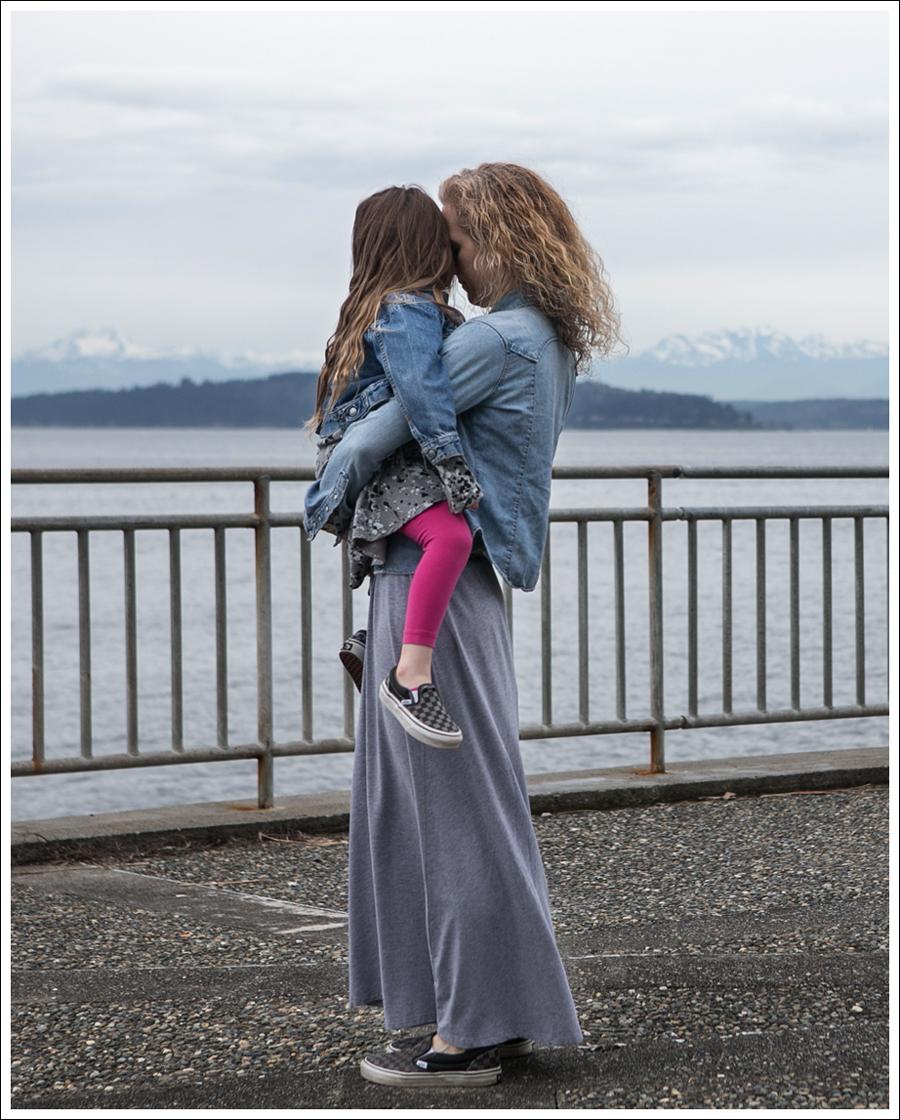 Blog Levis Denim Shirt Splendid Gray Dress Checkered Converse-3