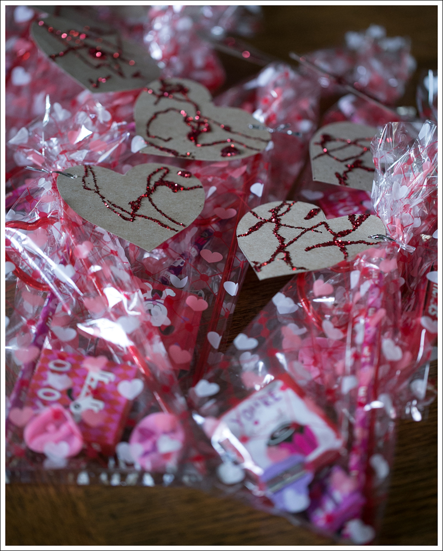 Non Candy Valentines with DIY Heart Glitter Cards – Valentine Cards Preschool