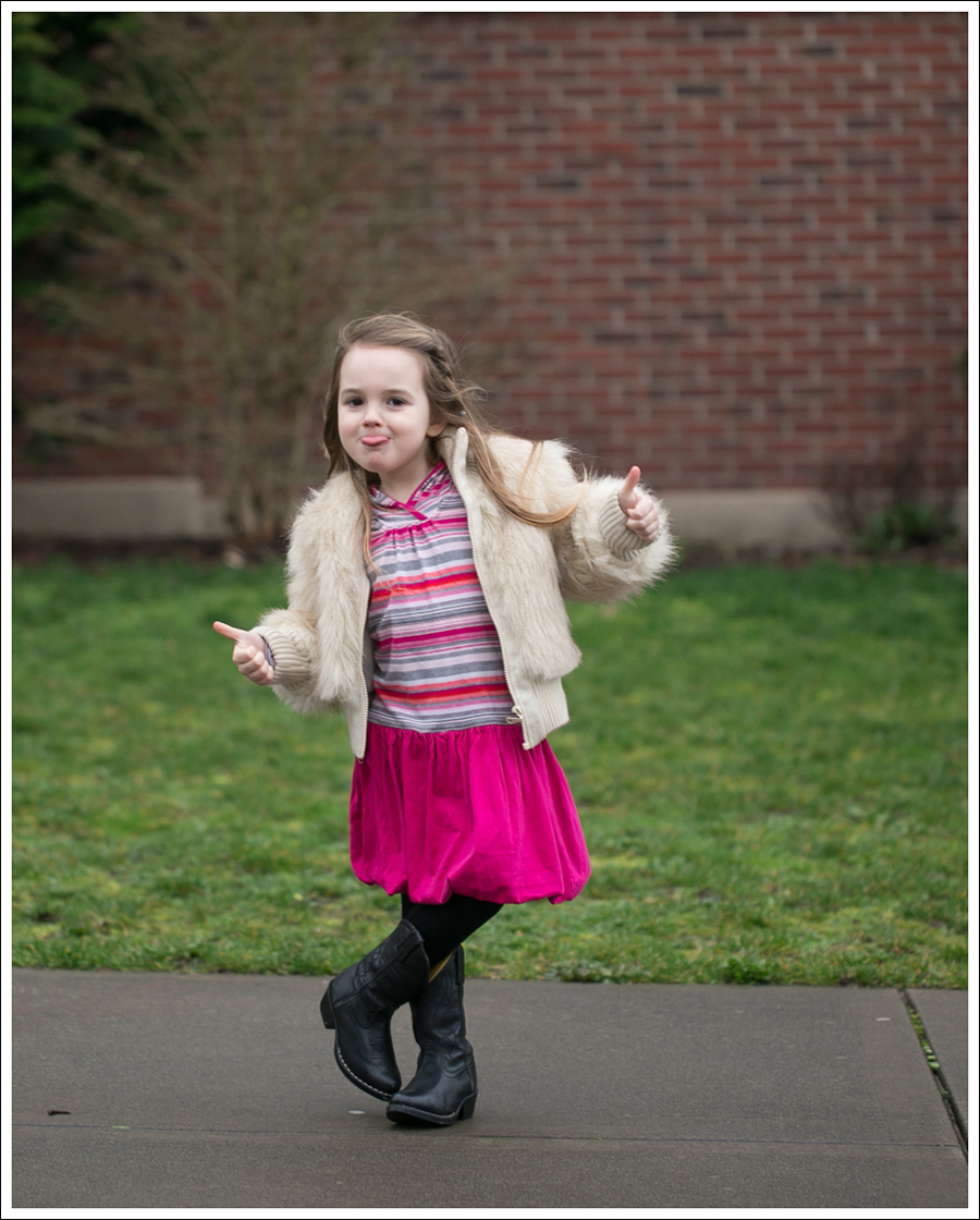 Blog Toddler Faux Fur Jacket Tea Collection Pink Bubble Hem Dress Smoky Mountain Cowboy Boots-2