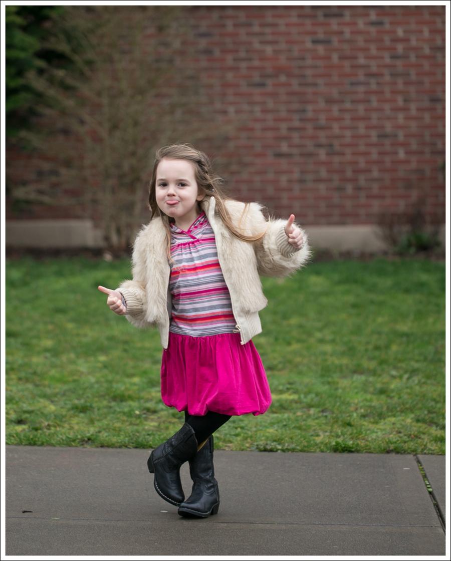 Blog Toddler Faux Fur Jacket Tea Collection Pink Bubble Hem Dress Smoky Mountain Cowboy Boots-2