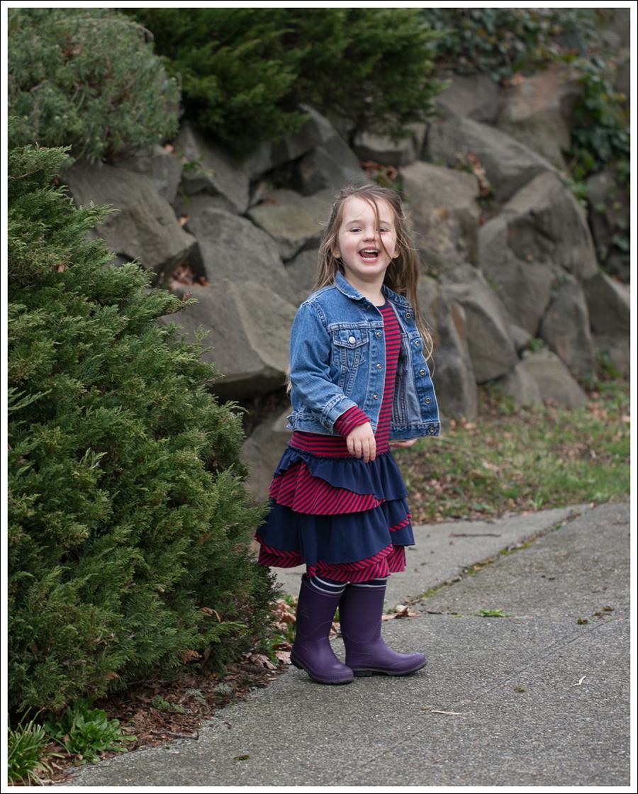 Blog Toddler Levis Jacket Hanna Andersson Tiered Dress Kamik Rain Boots-4