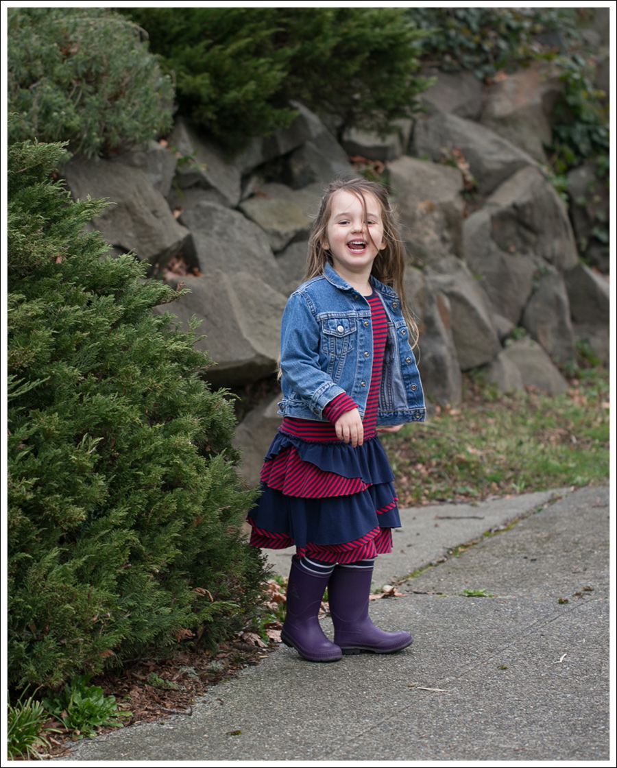 Blog Toddler Levis Jacket Hanna Andersson Tiered Dress Kamik Rain Boots-4