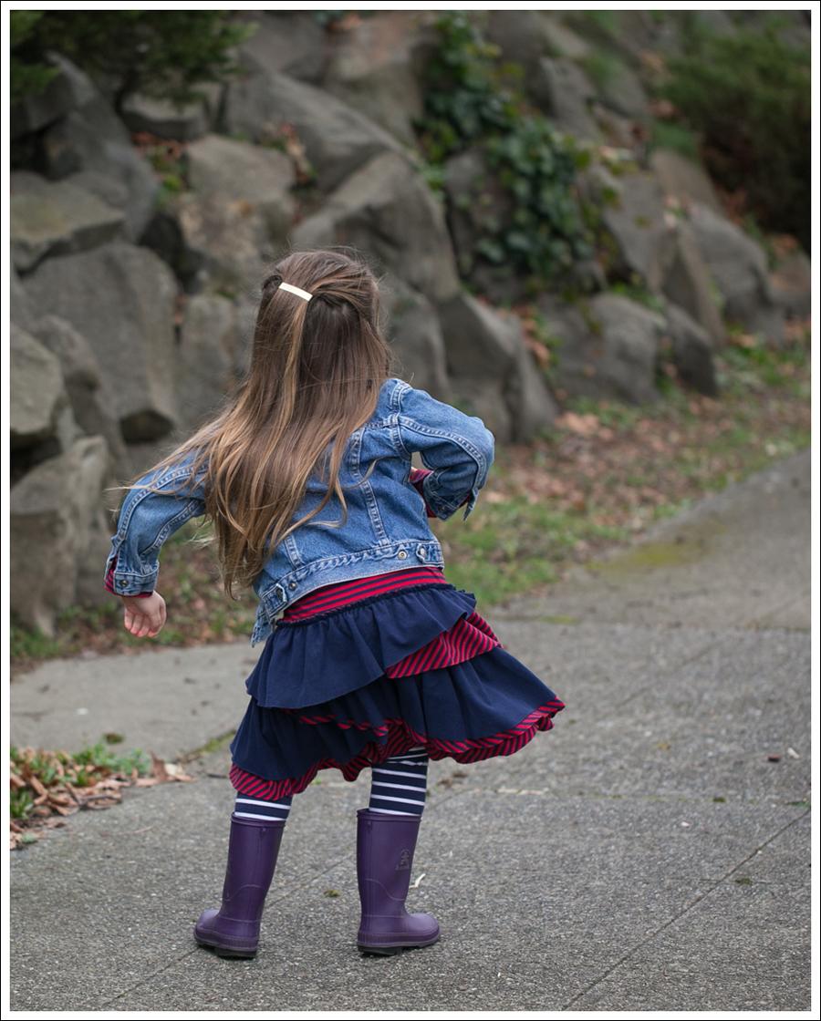 Blog Toddler Levis Jacket Hanna Andersson Tiered Dress Kamik Rain Boots-5