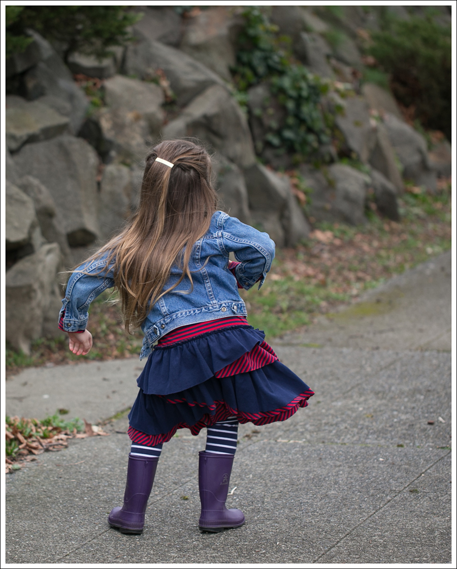 Blog Toddler Levis Jacket Hanna Andersson Tiered Dress Kamik Rain Boots-5