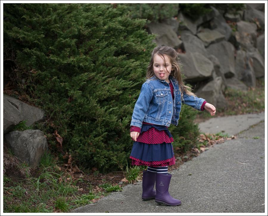 Blog Toddler Levis Jacket Hanna Andersson Tiered Dress Kamik Rain Boots-8