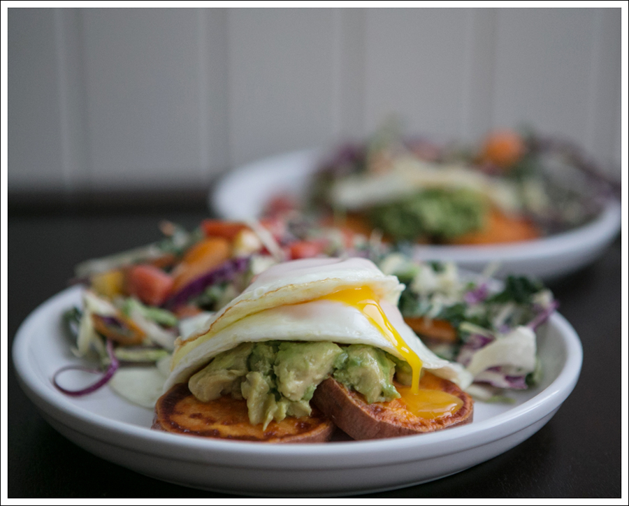 Blog Whole 30 Avocado Sweet Potato Toast Fried Egg-2
