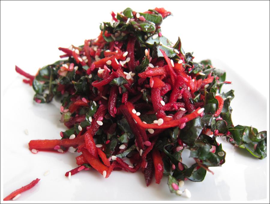 beet carrot kale salad blog