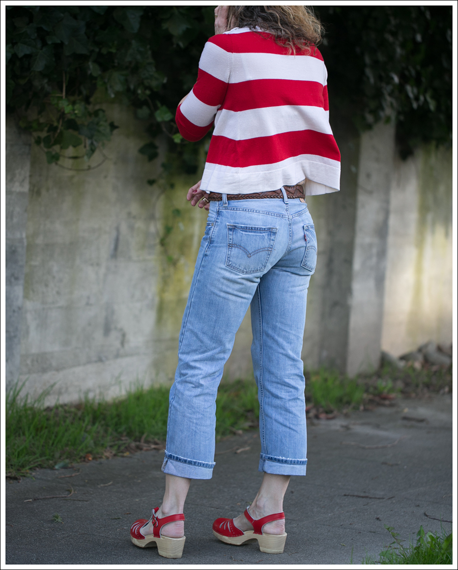 Blog Marley Striped Crop Sweater Levis 505 Sven Lacy Clogs-5