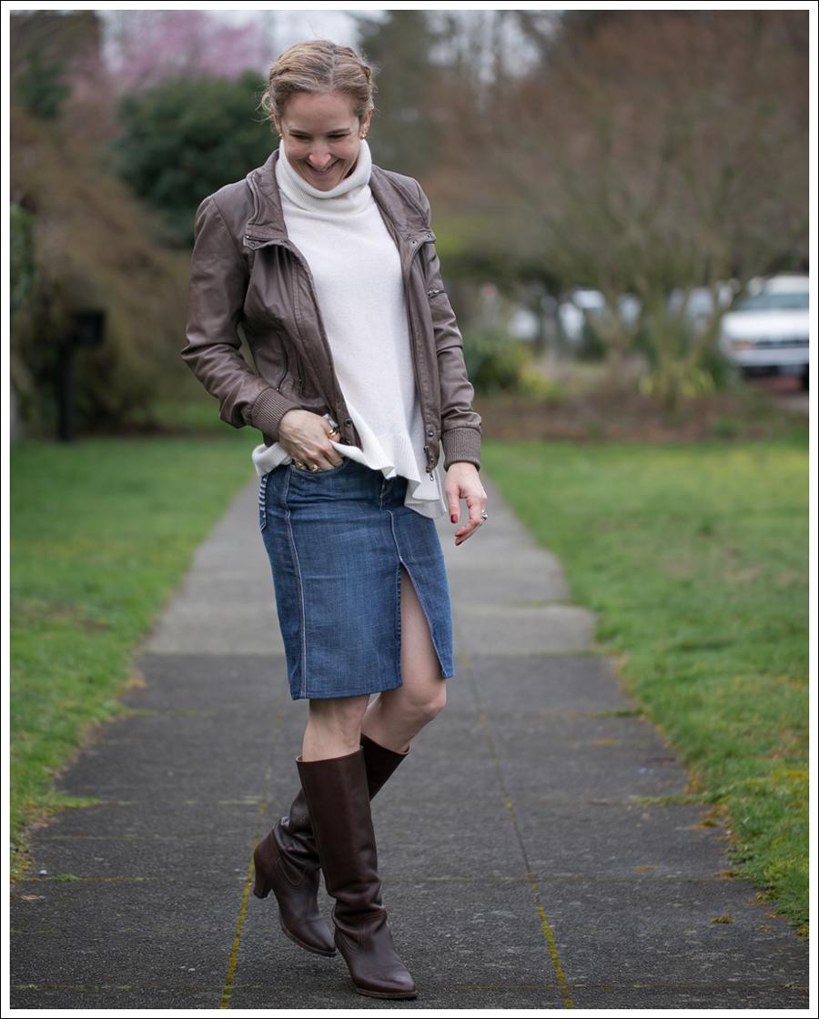 Blog Muubaa 360 Cashmere 7FAM Pencil Skirt Frye Knee Boots-1