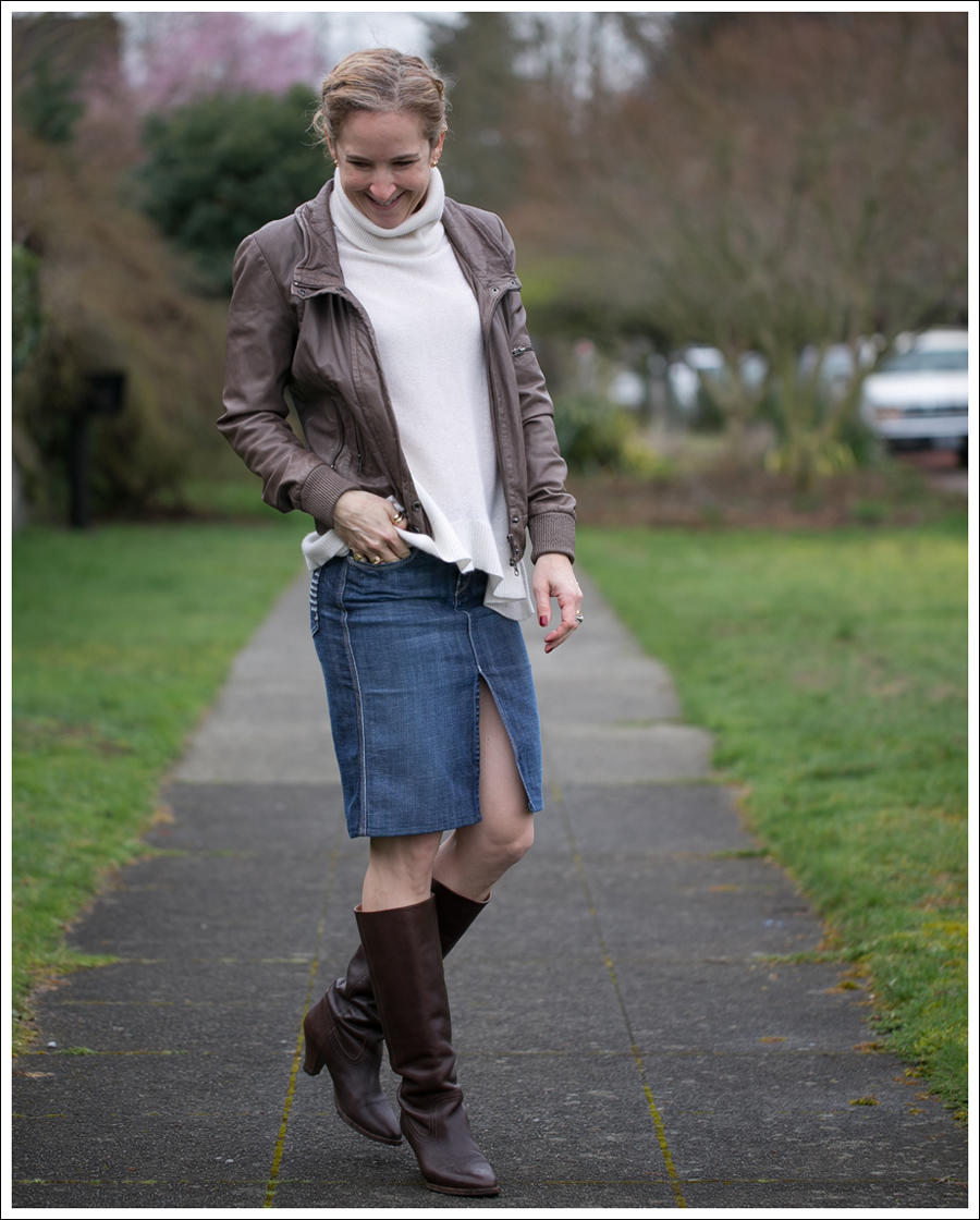 Blog Muubaa 360 Cashmere 7FAM Pencil Skirt Frye Knee Boots-1