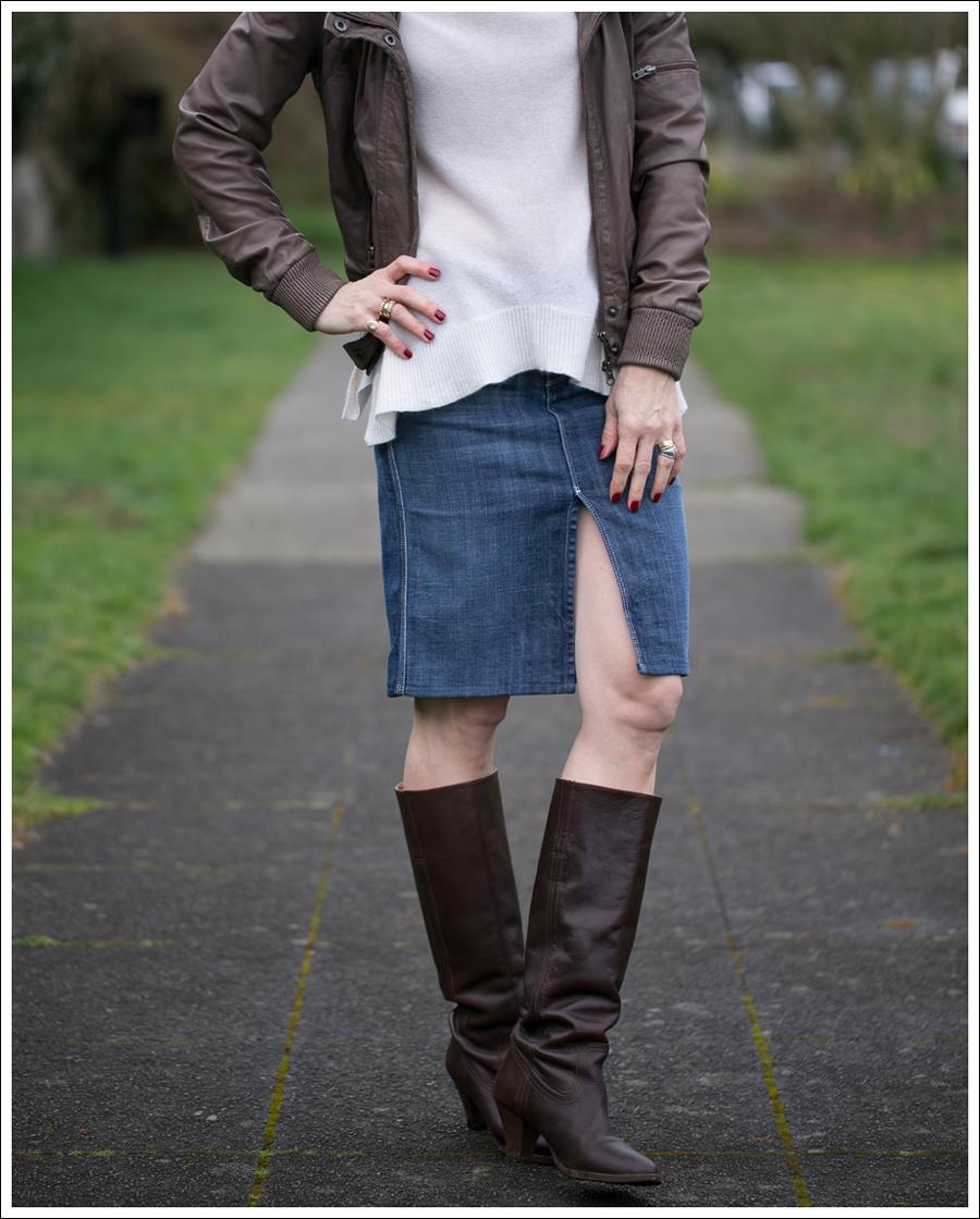 Blog Muubaa 360 Cashmere 7FAM Pencil Skirt Frye Knee Boots-2