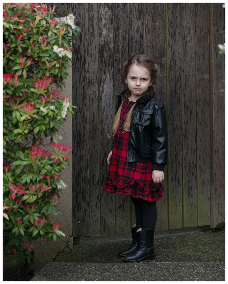 Blog Weatherproof Leather Jacket Buffalo Plaid Hanna Andersson Old West Boots-2