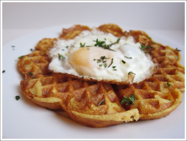 savory herb cheese waffles blog (3)