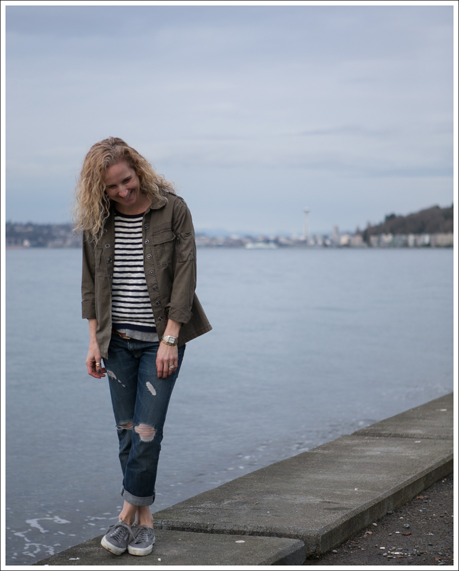Blog Blank NYC Army Shirt StyleMint Striped Sweater Current Elliott Boyfriend Supergas-1