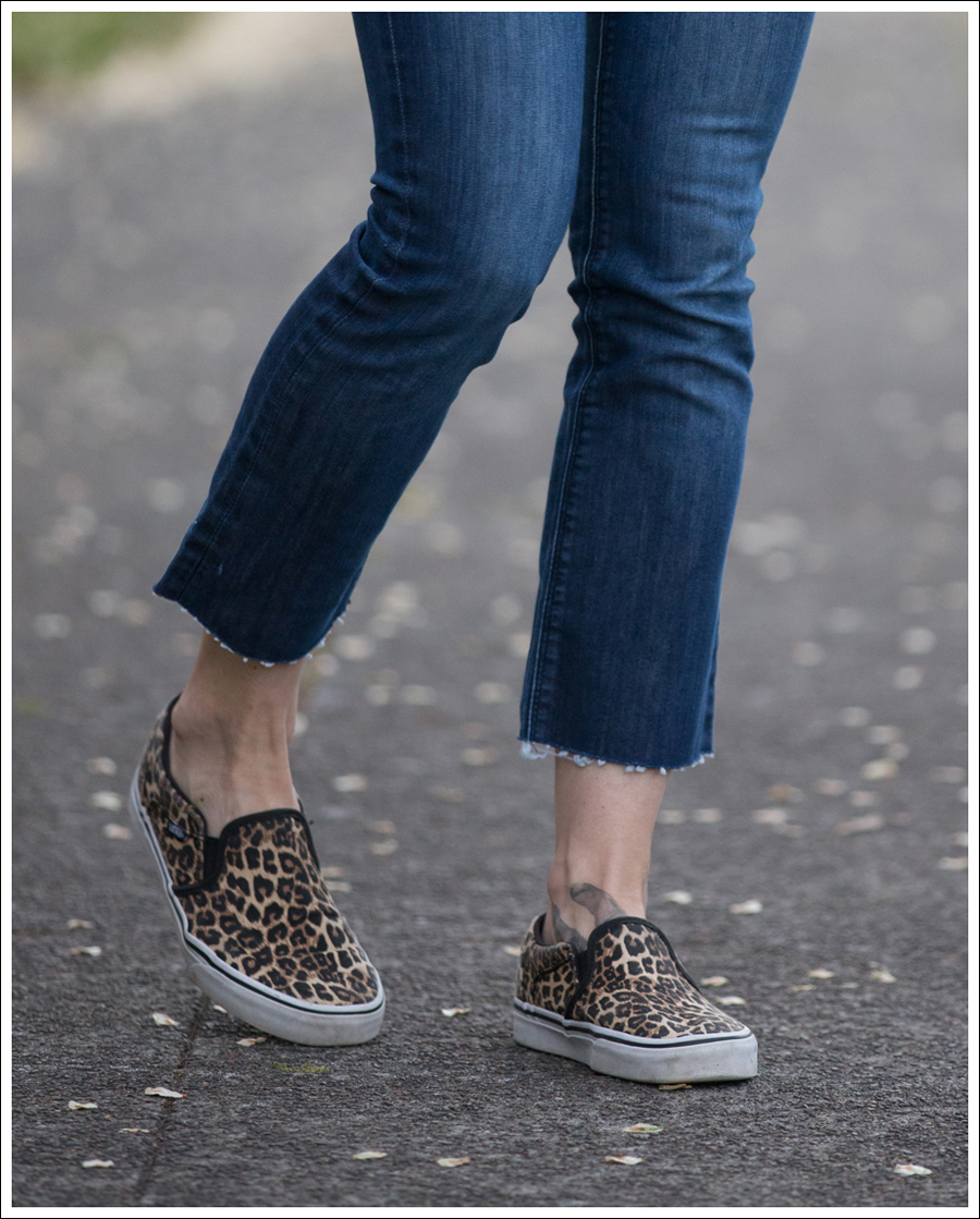 Blog Emerson Thorpe Striped Tank DL1961 DIY Crop Flares Leopard Vans Slip Ons-4